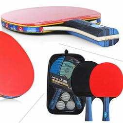 1 Pair Professional Table Tennis Ping Pong Racket Paddle Bat