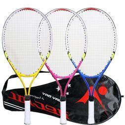 1 Set Colorful Professional Tennis Racket for Playing Teenag