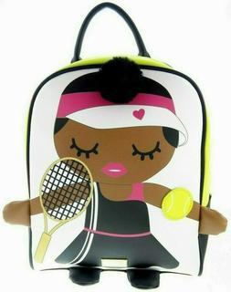 "12"" Betsey Johnson Brown Black Girl Tennis Player Ball Racke"