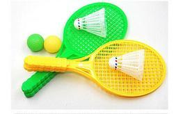 1pair Child Badminton Tennis Racket Baby Sports Bed Toy Educ