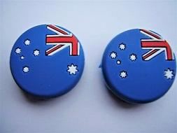 2 Flag Tennis Vibration Dampners absorbers tennis racquets r