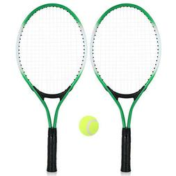 2Pcs Kids Tennis Racket String Tennis Racquets with 1 Tennis
