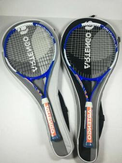 2x Junior Tennis Racquets for Kids 6 and up  Storage Bags in