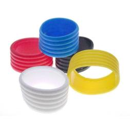 5Pcs Racket Rubber Ring Stretchy Tennis Racquet Over Band Ne