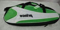 Prince 6 Pack Tennis Racquet Bag. Green, White and black New