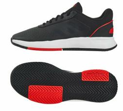 adidas  Court Smash Men's Tennis Shoes Black Red Racket Racq