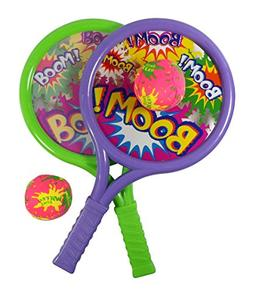 Liberty Imports Boom Drum Racket Sports Set for Kids with 2