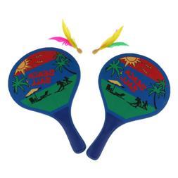 Beach Ball Paddles / Rackets, Garden Badminton Tennis Bat, f