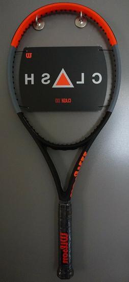 BRAND New Wilson CLASH 100 Tennis Racquet 4 1/4 Racket 16x19