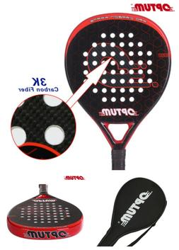carbon Fiber Pro Tennis Padel Racket with Bag Cover Rackets