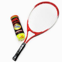 """Weston Children's Tennis Racquet 23"""" Age 7-8 with can of 3 b"""