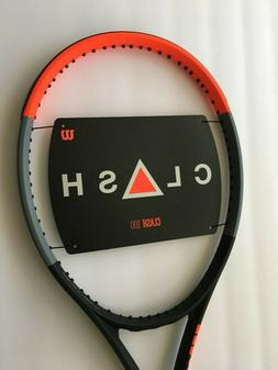 "Wilson Clash 100 Tennis Racquet - Grip 4 3/8"" - NEW - FREE S"