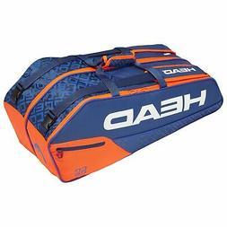 Head Core Combi 6 Racquet Racket Bag Tennis Squash Blue/Oran