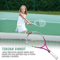 Durable String Single Tennis Racket Racquet for Kids Trainin
