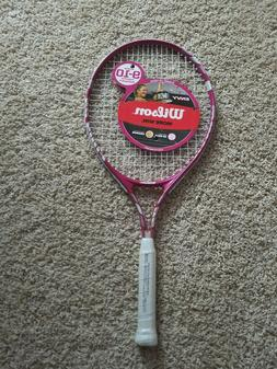 "Wilson Envy Pink Youth Tennis Racket 37/8"" 25 Inch New Age"