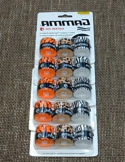 Gamma Fashion Safari Tennis Racquet overgrip Lot of 5 packs