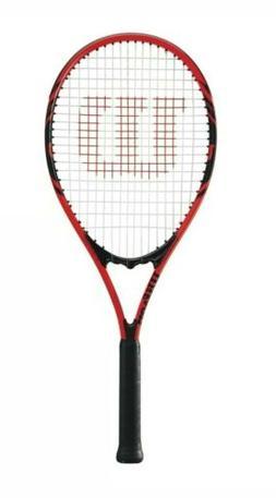 4 Pack Wilson Federer Adult Tennis Racket Red & Black