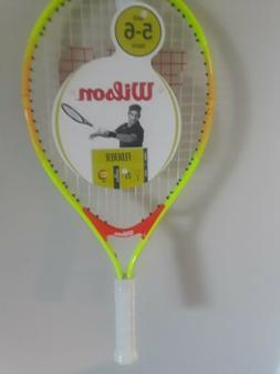 "Wilson FEDERER Kids Ages 5-6  junior tennis racket 4"" grip 2"