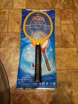 Handheld Bug Zapper Tennis Racket Electronic Fly swatter Mos