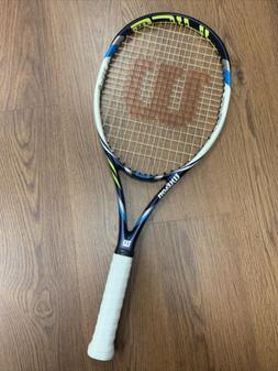 "Wilson Juice 108 4 3/8"" Tennis Racquet New Strings NXT"