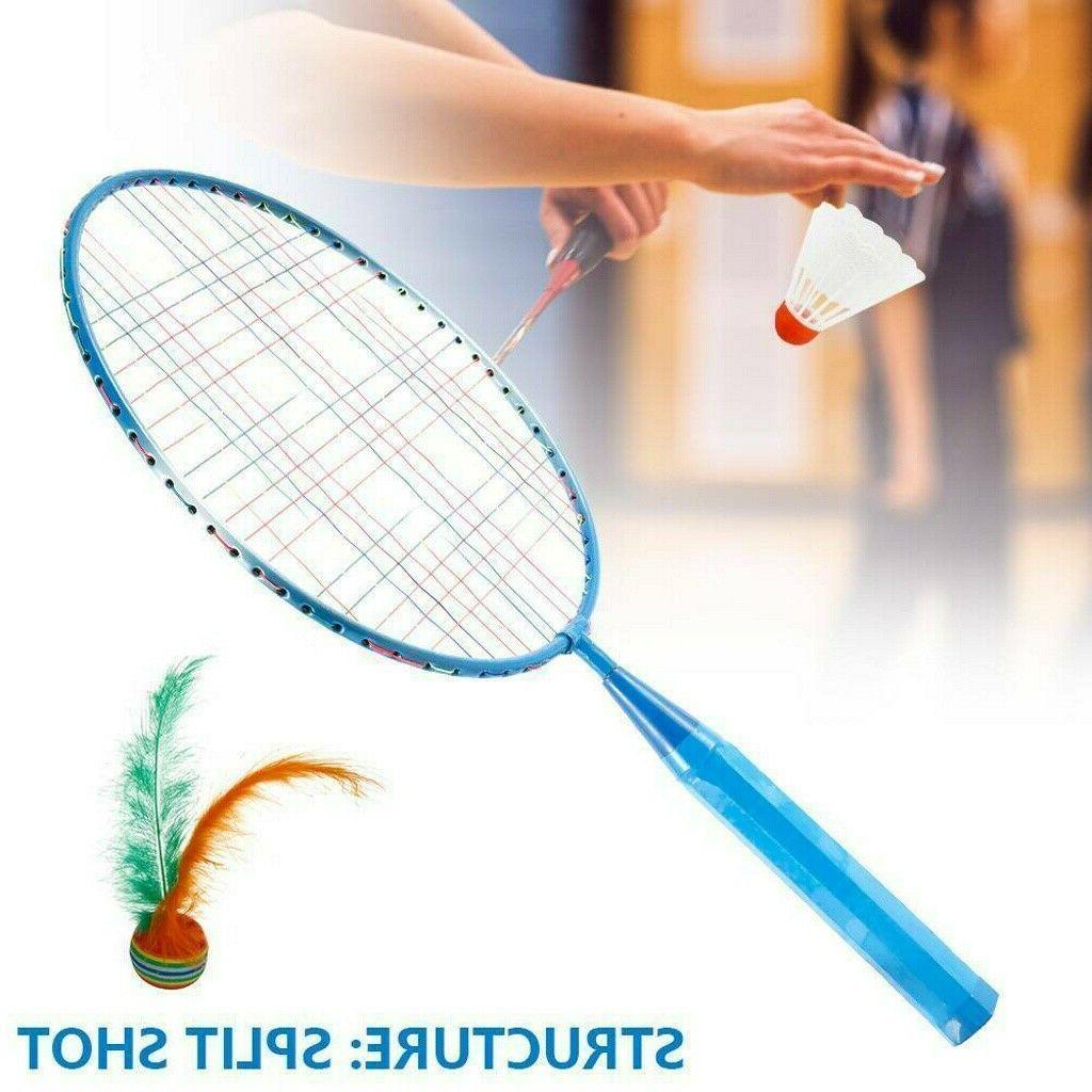 1 Pair Badminton Rackets Sports Toys Boys Girls
