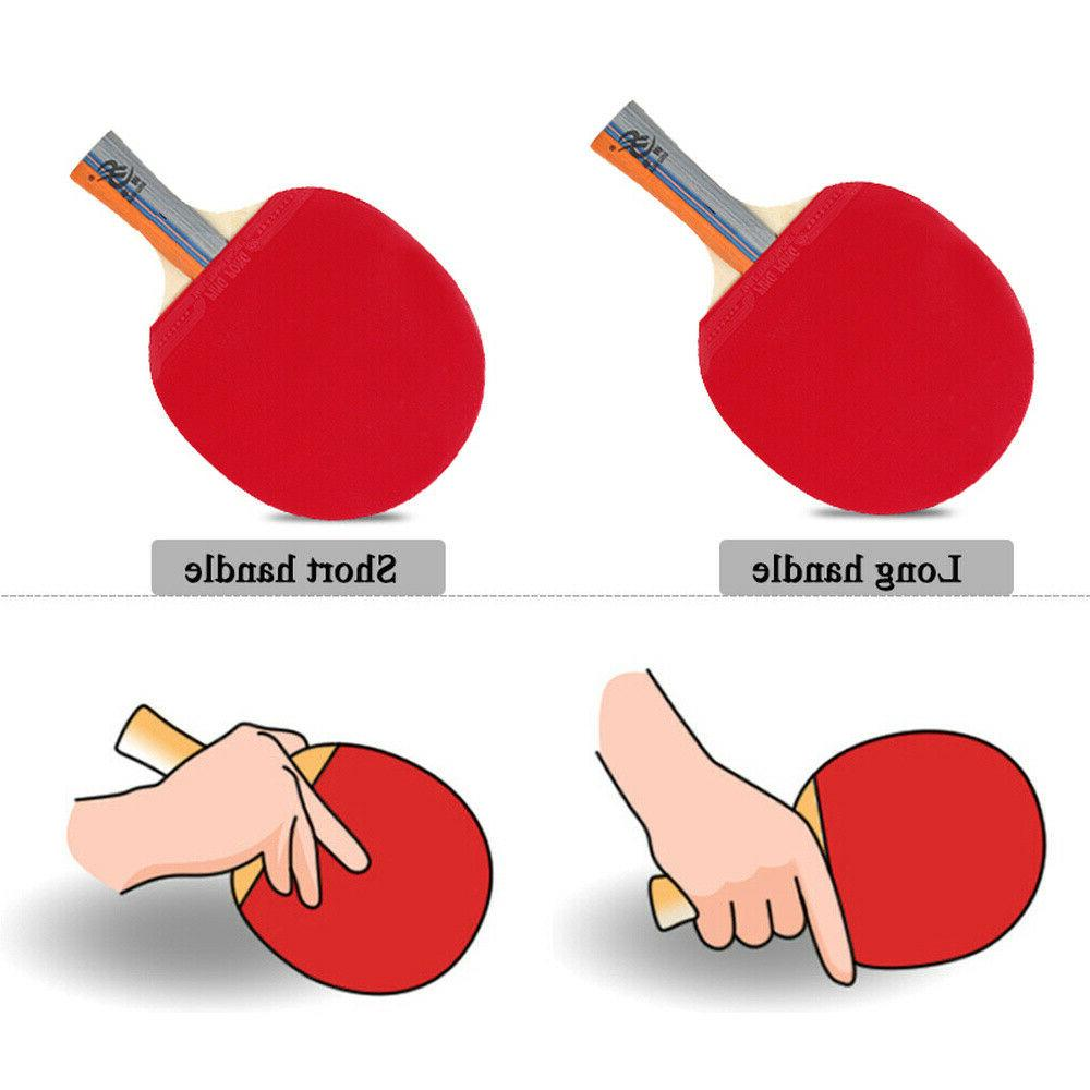 Table Ping Pong Paddle + 3 + Bag 1Pair Professional