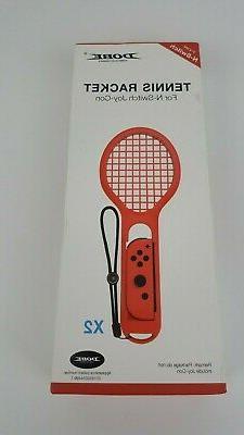 DOBE 2pack Tennis Racket Joy-Con Grip for Nintendo Switch fo