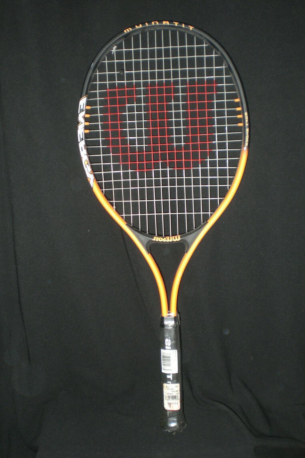 Wilson Energy 110 Titanium Soft Shock Racquet Racket Orange/Blk 3/8