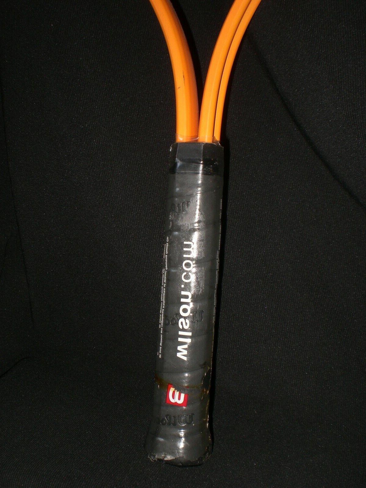Wilson Energy 110 Soft Shock 3 Tennis Racquet Orange/Blk 3/8