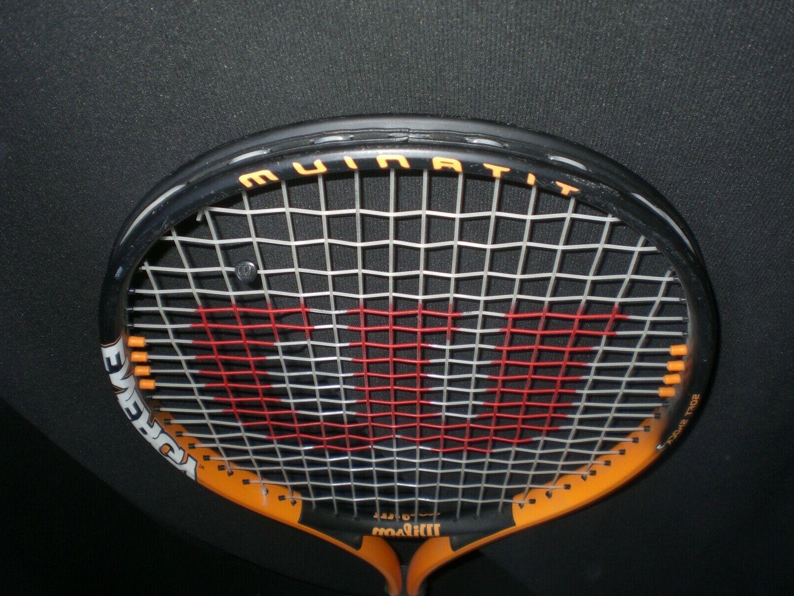 Wilson 110 Titanium Soft Racquet Orange/Blk 4 3/8