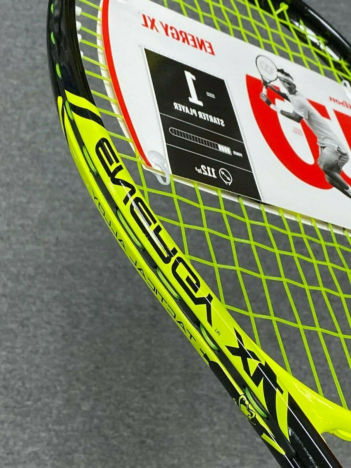 Wilson Energy Tennis Racket, Pre Grip 4 New