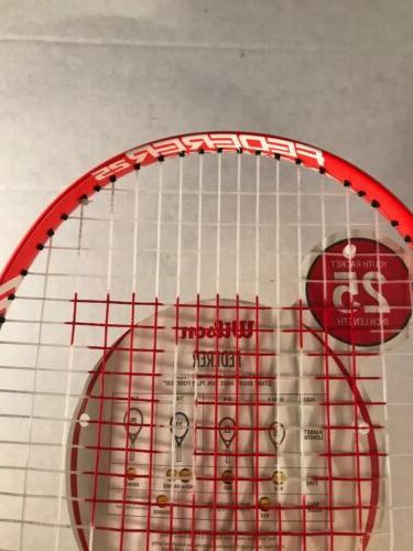 "WILSON Racket 7/8"" Grip Youth Kids Ages 9-10 New"