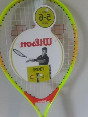 "Wilson 5-6 junior tennis 4"" 21"" NWT"