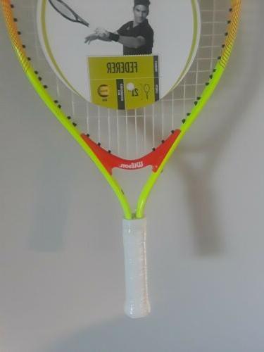 "Wilson Kids 5-6 racket 4"" grip 21"" NWT"