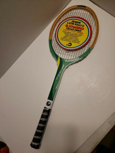 hawk owen davidson wooden tennis racket l