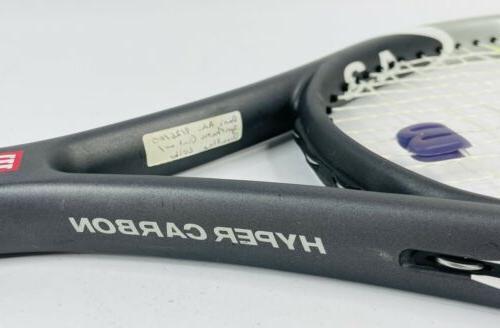 Wilson Hyper 4.3 Carbon Tennis Racket 110in Grip w/ Bag