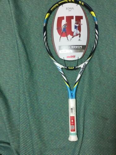 juice 100 tennis racket new
