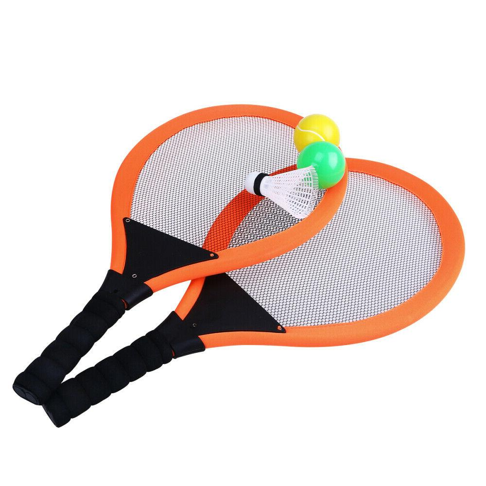 2 pcs badminton tennis racket and balls