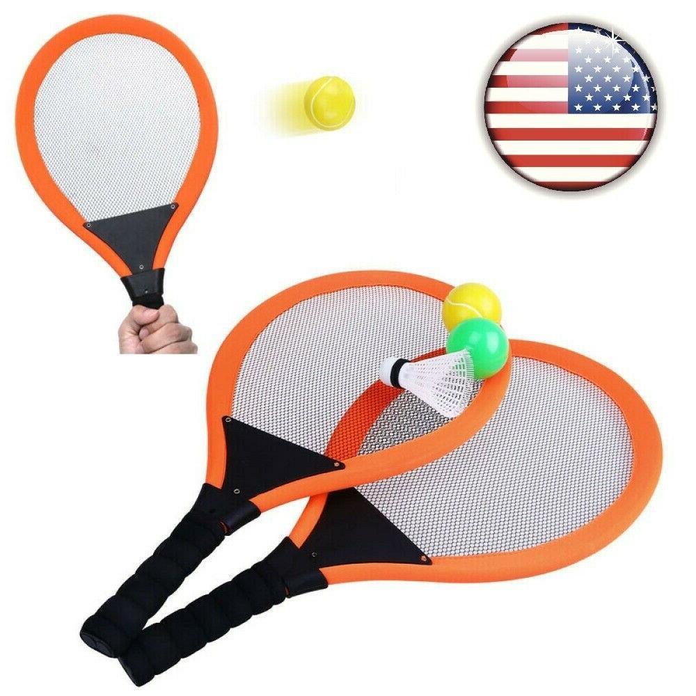 kids badminton racket set boys girls training
