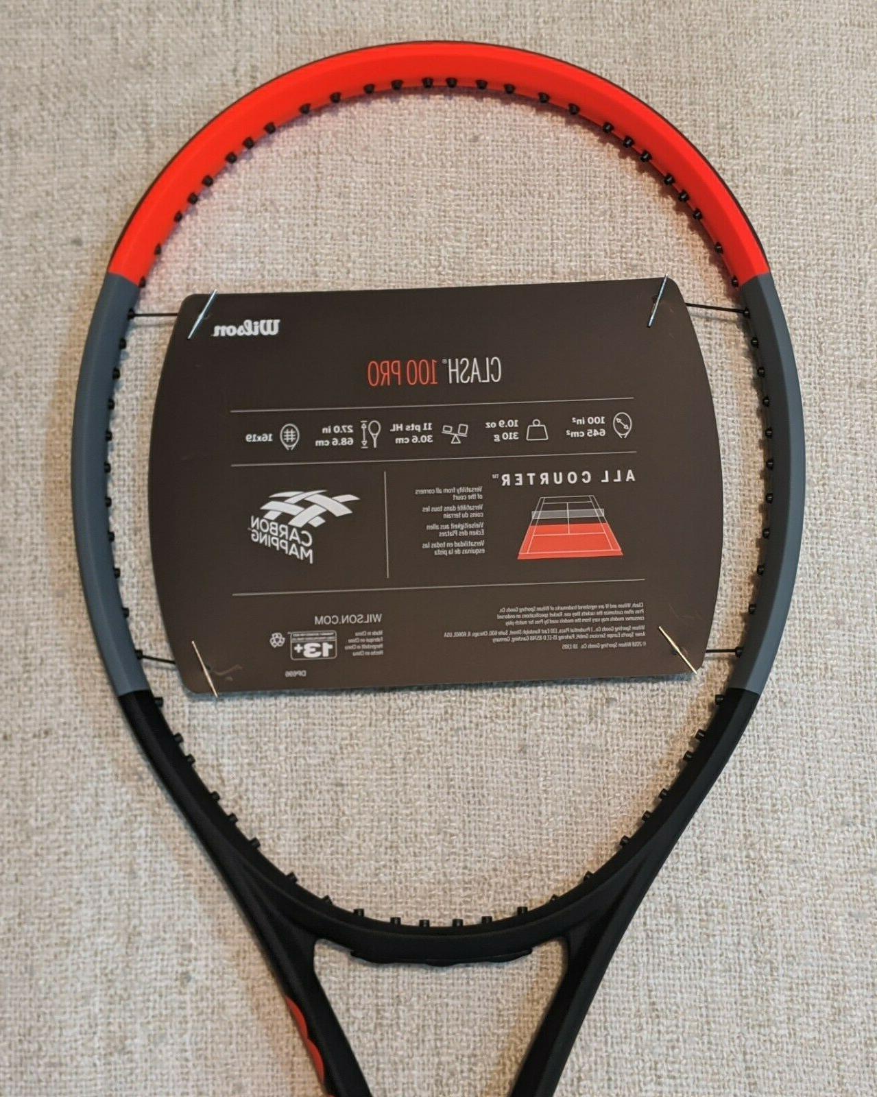 NEW Wilson Clash Pro Tennis Racquet Size 4