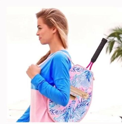 nip tennis racket cover pink blue coral