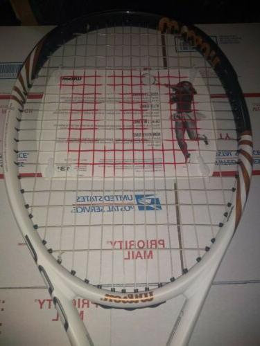 """Wilson BLX Tennis racket 4 3/8"""" STRUNG ball"""