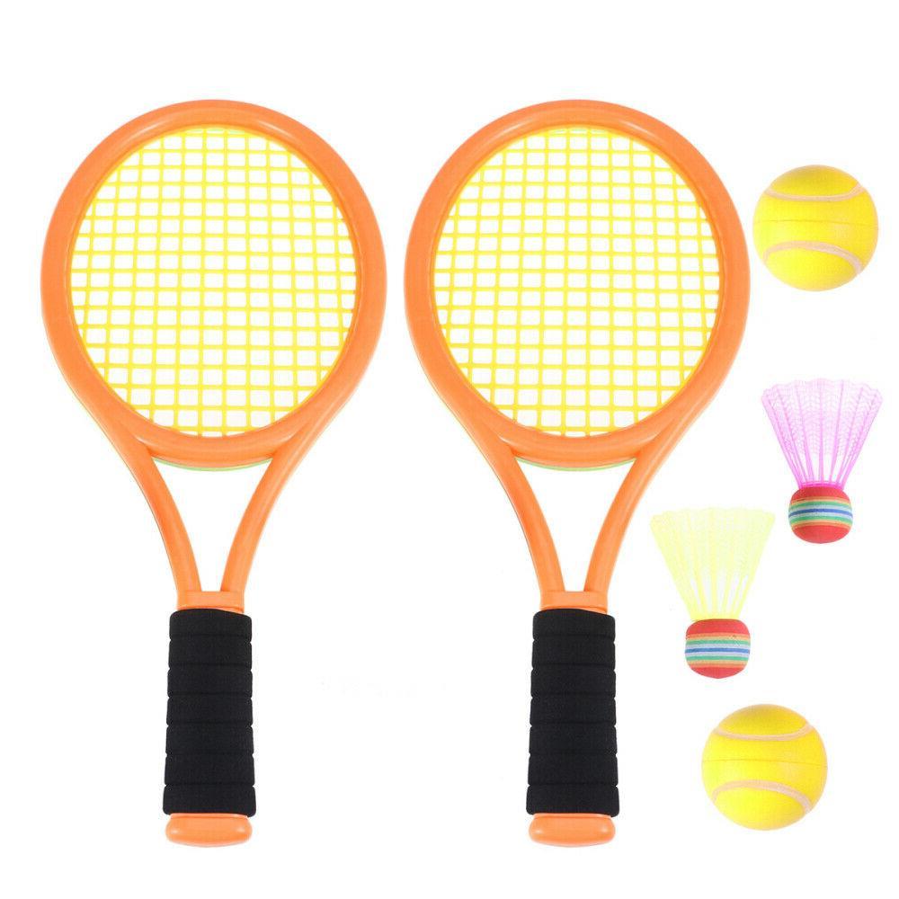 parent child sports tennis racket badminton set