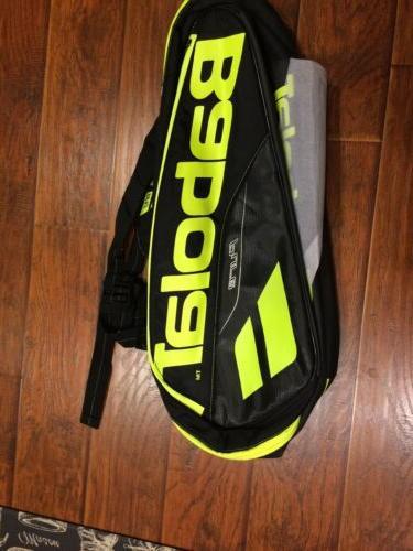 rh x6 pure tennis bag black yellow