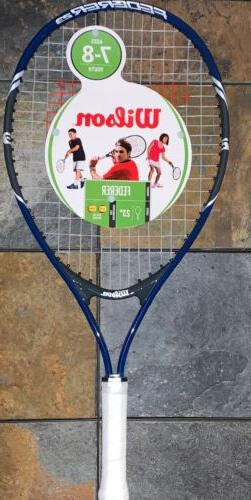 "Wilson Roger Federer 23"" Youth Tennis Racket 3-5/8"" Blue/G"
