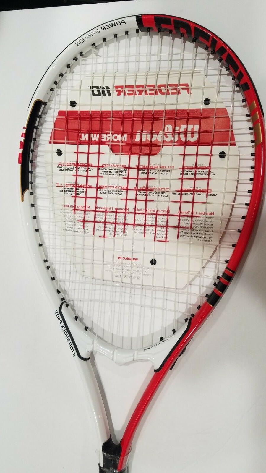 Wilson Roger Federer Tennis Racket 4 NEW