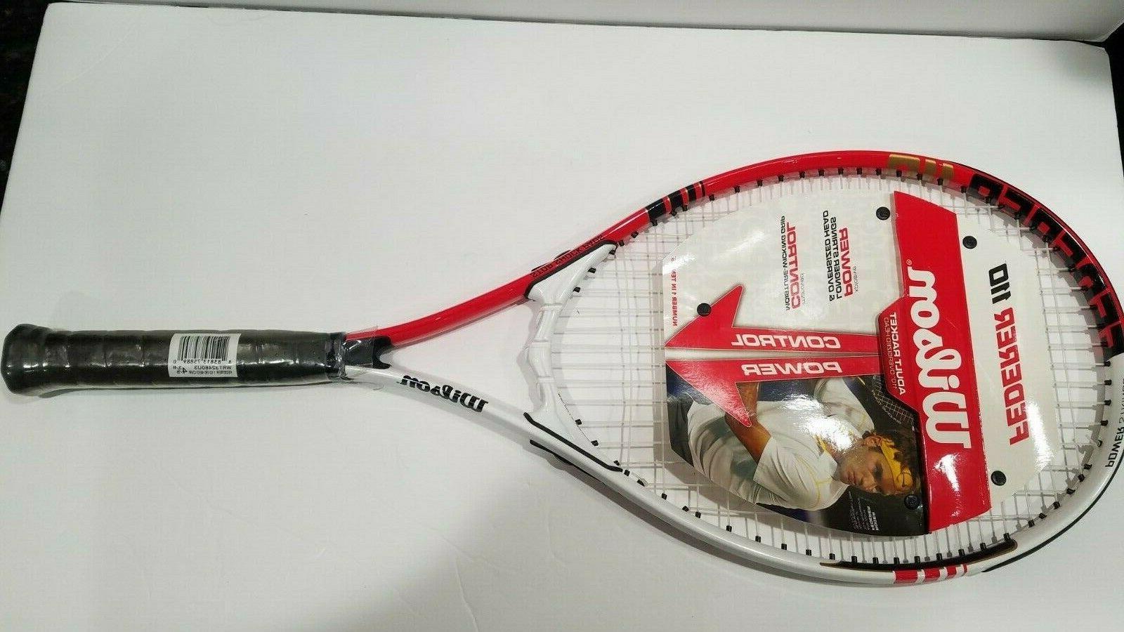 roger federer tennis racket white red