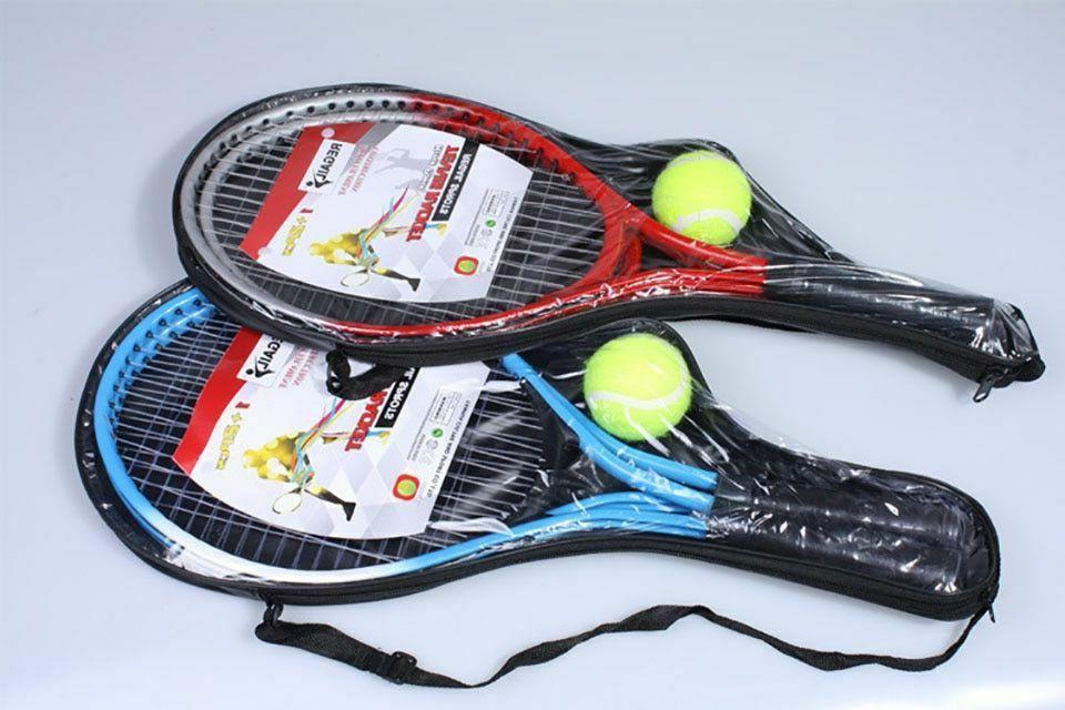 Tennis Racket 2 With Training Top Steel