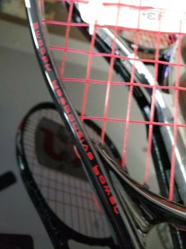 "SET OF Wilson Fusion Tennis 112"" Square 4 Grip NEW"