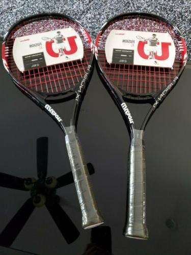 set of 2 fusion xl tennis racket